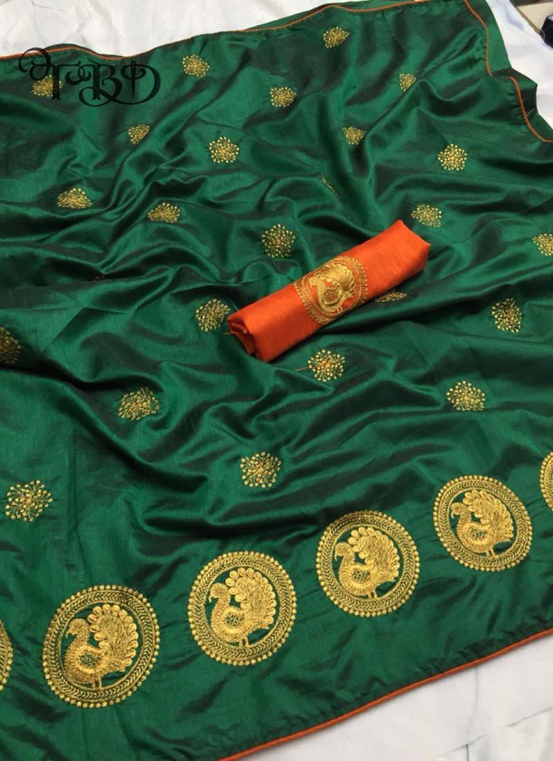 glowing-green-heavy-embroidered-pure-sana-silk-saree