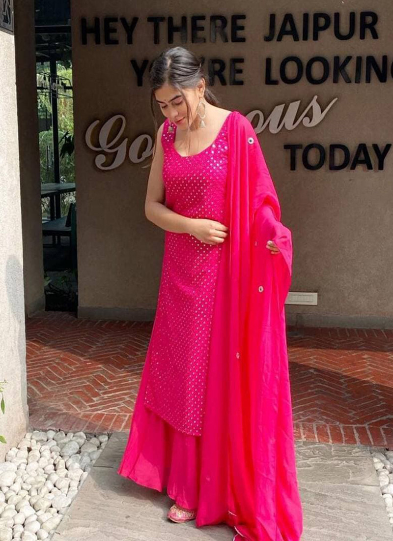 mirror-embroidered-rose-pink-georgette-sharara-suit