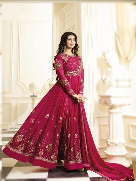 Ayesha Takia Awesome Pink Anarkali Salwar Suit