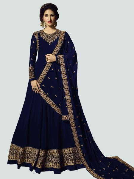 Designer Blue Anarkali Dress
