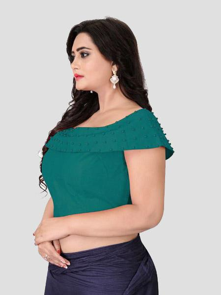 Buy Left Side of Turquoise Green Blouse - YOYO Fashion