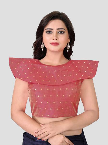 Buy Red High Neck Blouses Online from YOYO Fashion