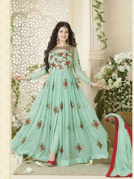 Sea Green Front-Slit Anarkali Suit