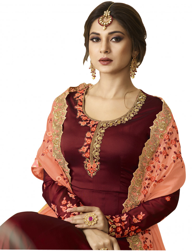 New Arrival Party Wear Red Bollywood Anarkali Salwar Suit