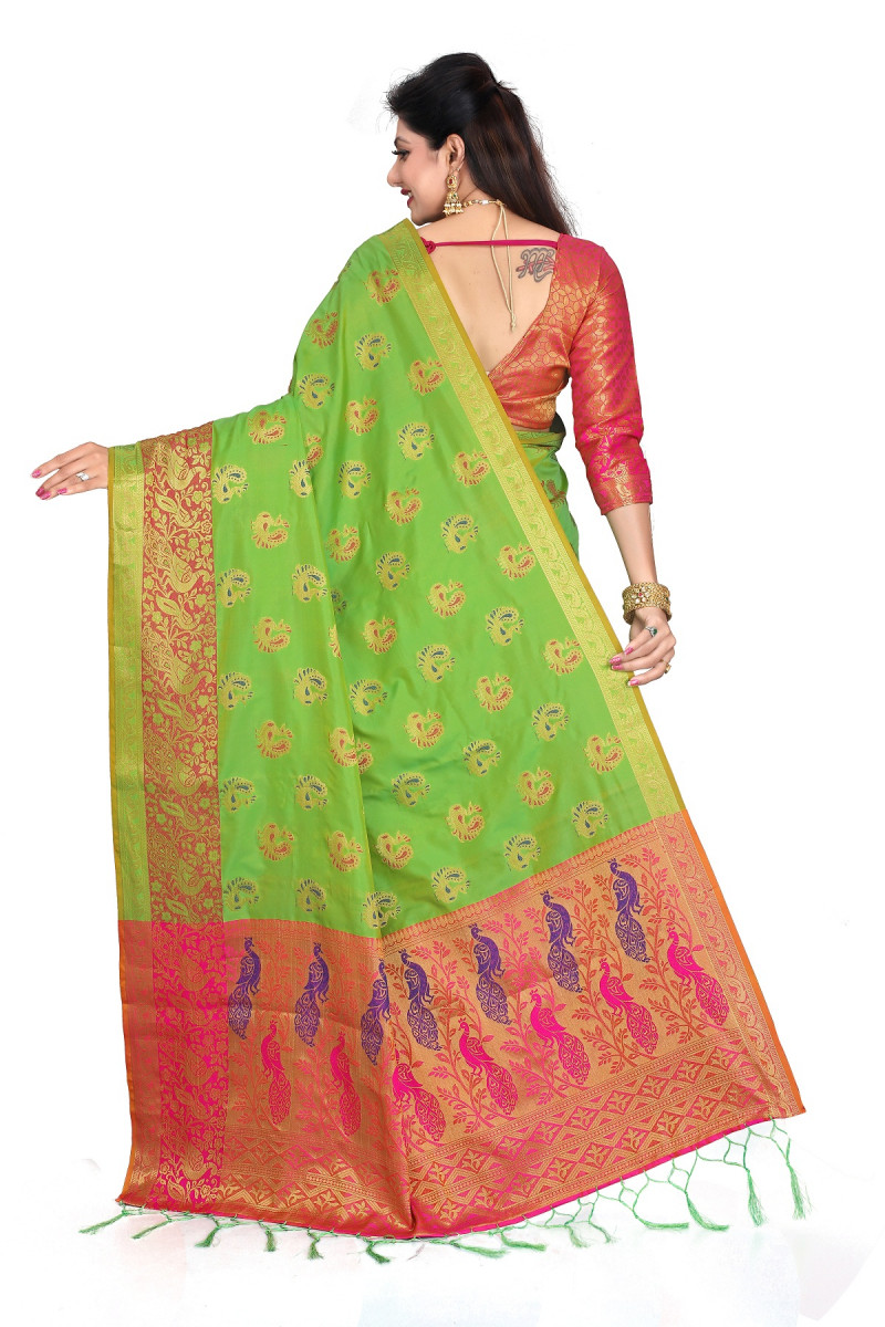 Appealing Light Green  Festive Wear Woven Banarasi Silk saree