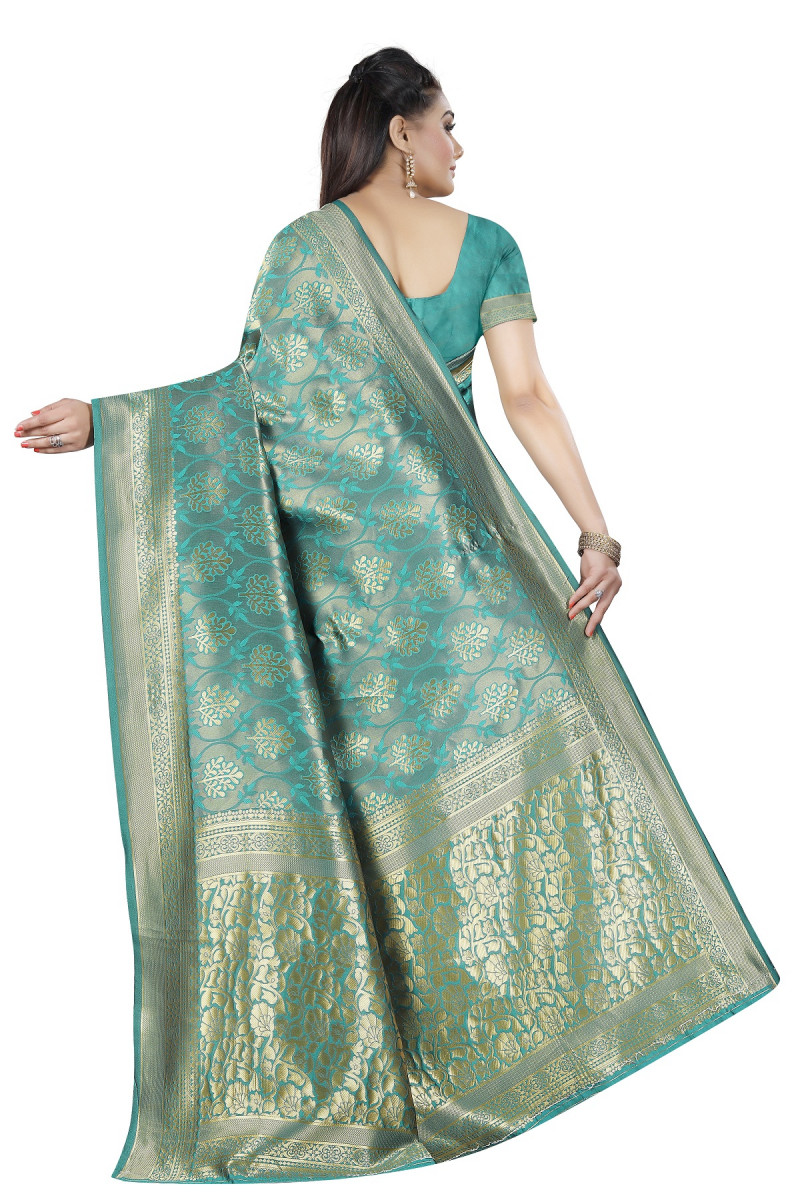 Classy Firoji  Banarasi Silk Party Wear Saree