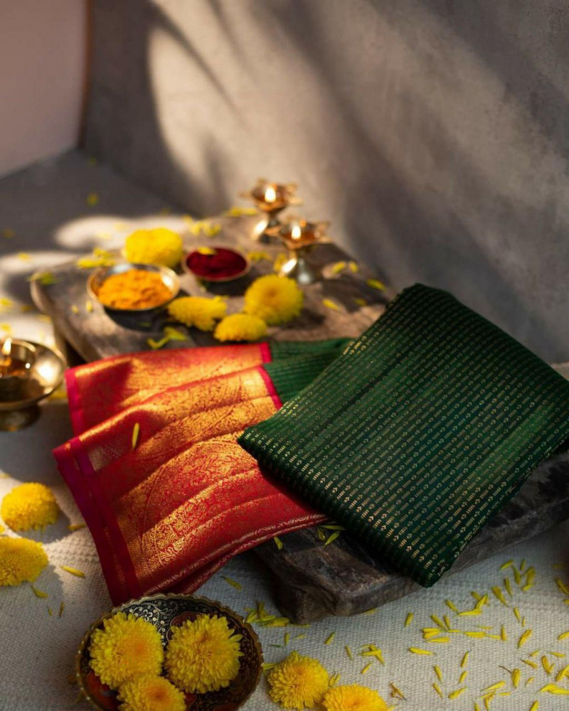 Green Party wear Kanjivaram Silk Saree