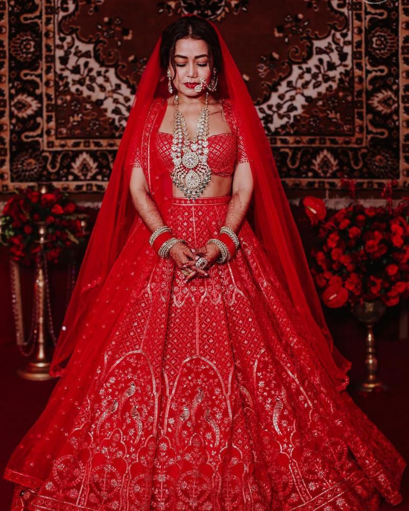 Red Bollywood Embroidered Lehenga Choli