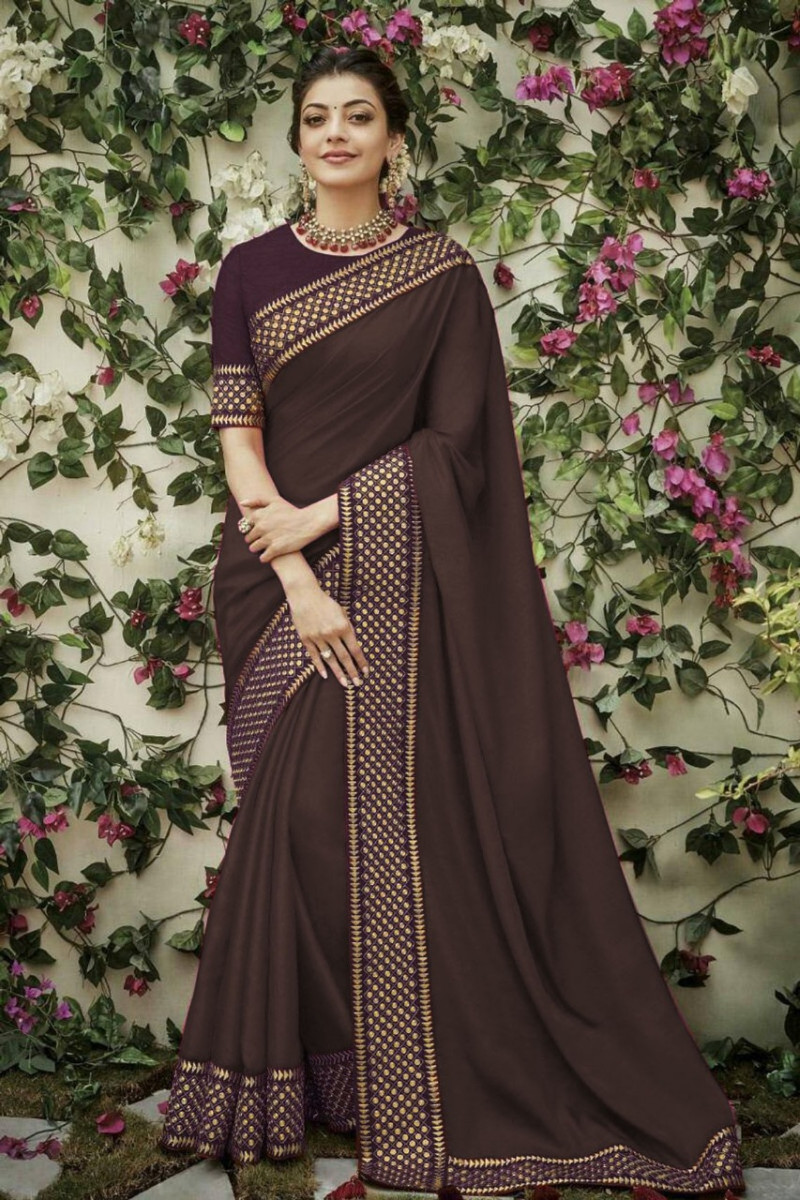 Coffee Color Designer Saree